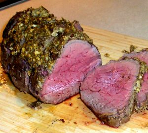 Horseradish-Crusted Beef Tenderloin Roast Recipe Photo