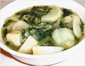 Turnips and Greens Soup Recipe Photo