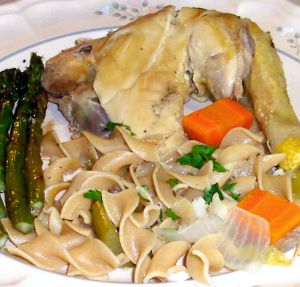 Stewed Chicken with Noodles Recipe Photo