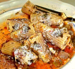 Pasta with Tomato-Mushroom Sauce Recipe Photo