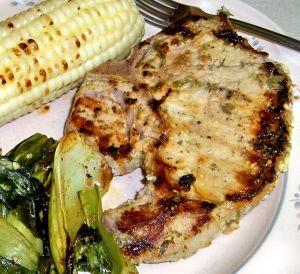Grilled Pork Chops with Lemon-Mustard Marinade Recipe, Pork