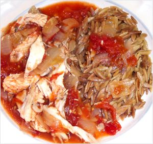 Stewed Chicken and Tomatoes Recipe Photo