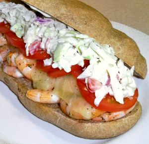 Grilled Shrimp Sandwiches with Creamy Slaw Photo