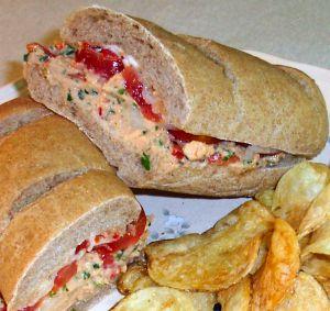Salmon Salad Sandwiches Recipe Photo