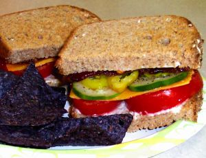 Tomato Sandwiches with Bacon and Cucumbers Recipe Photo