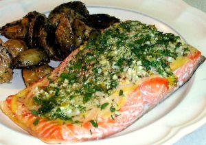 Roasted Salmon Recipe Photo