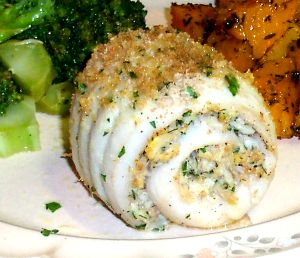 Rolled Flounder Fillets With Crabmeat Stuffing Recipe