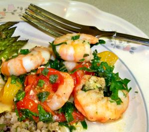 Shrimp with Cherry Tomatoes Recipe Photo
