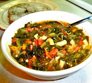 Bean and Kale Soup Recipe Photo