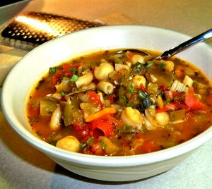 Eggplant and Chickpea Soup Recipe Photo