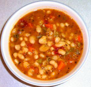 White Bean and Ham Soup Recipe Photo