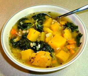 Butternut Squash and Kale Soup Recipe Photo