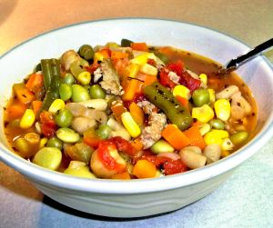 Turkey Vegetable Soup Recipe Photo